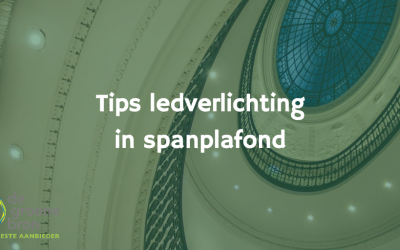 Tips voor ledverlichting in spanplafonds